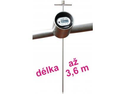 Skládací digitální tyčový teploměr - zemědělský 2,1 až 3,6 m
