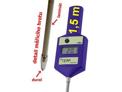 Zemědělský tyčový teploměr 150 cm - WILE TEMP