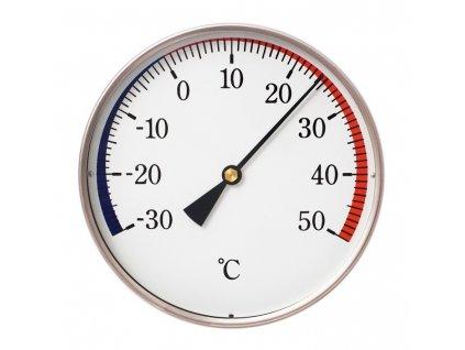 Nástěnný bimetalový teploměr -30 až +50 °C, průměr 120 mm