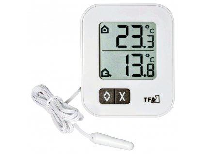 Digitální teploměr MIN-MAX s teplotním čidlem TFA 30.1043.02