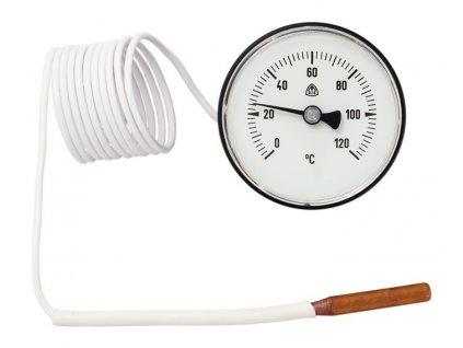 Kapilárový teploměr 0..120 C, průměr 60 mm, kapilára 1450 mm