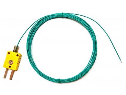 Drátkové teplotní čidlo, termočlánek NiCr-Ni, do 400°C, délka 4 m