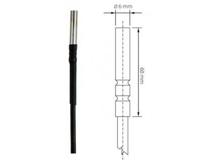 Teplotní čidlo -80 až +200 C - Pt1000TG8/E - délka 2 m | SN105E