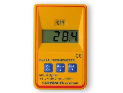 """Vysoce přesný kontrolní digitální teploměr Greisinger GTH1170 pro termočlánky typu """"K"""""""