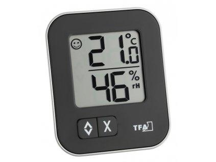 Digitální teplo-vlhkoměr MOXX TFA 30.5026.01 - černý