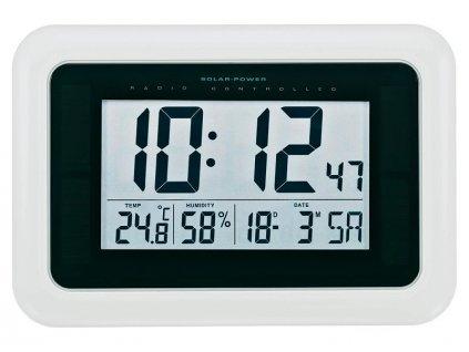 Solární nástěnné DCF hodiny, BT-1604186, 280 x 190 x 23 mm, bílá