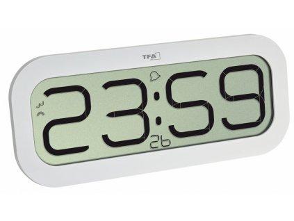 Rádiem řízené nástěnné hodiny TFA 60.4514.02 BIMBAM, bílá