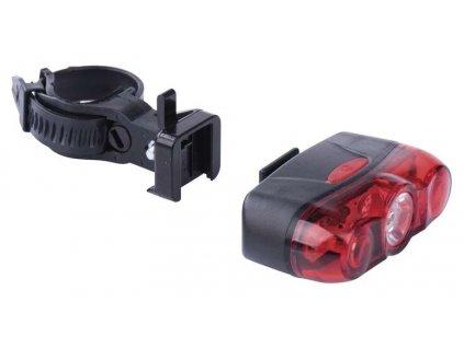 Svítilna na kolo 2x LED + LED chip, na 1x AA, zadní