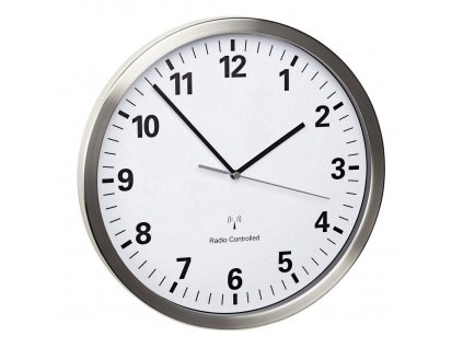 Nástěnné DCF hodiny TFA 60.3523.02 s tichým chodem; průměr 305 mm