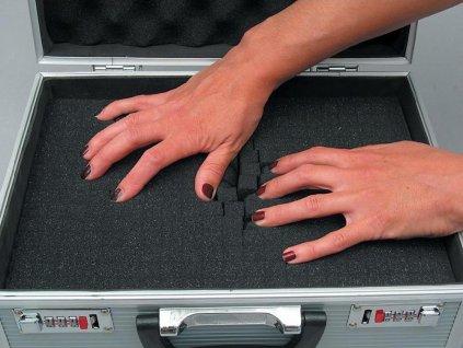 Hliníkový kufr s pěnovou výplní Viso STC900P, 330 x 240 x 165 mm