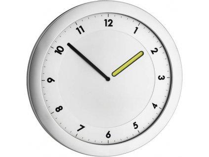 Quartz nástěnné hodiny TFA 60.3027.54, Ø 28 cm, kovová stříbrná
