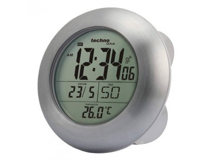 Digitální DCF koupelnové hodiny s teploměrem WT 3000