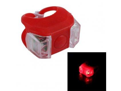 LED cyklo-svítilna, 2x výkonná červená LED, svícení, blikání