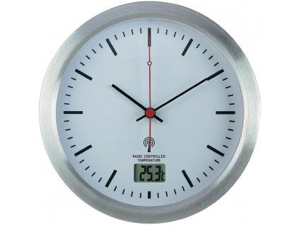 Analogové DCF nástěnné hodiny do koupelny Renkforce, E1003R, Ø 17 x 6 cm, šedá