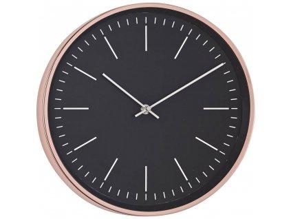 Quartz nástěnné hodiny Mebus 18762, vnější Ø 30.5 cm, měděná