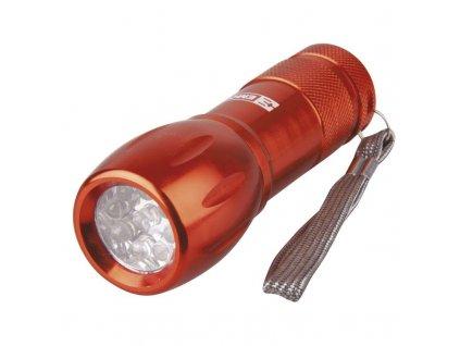 LED svítilna kovová, 9x LED, na 3x AAA | P3812