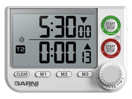 GARNI KT2 | Časovač (minutka) se stopkami a hodinami s inteligentním otočným knoflíkem