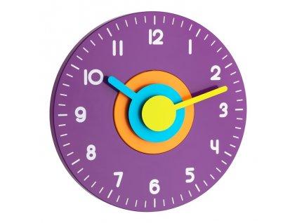 Nástěnné hodiny fialové TFA 60.3015.11 POLO