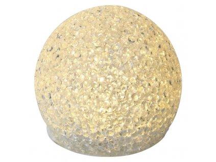 LED dekorace – koule, 8cm, 3xAA, teplá bílá, časovač | ZY2095