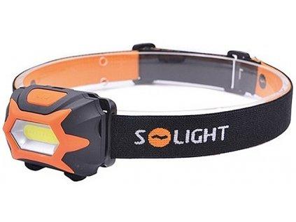 Solight  WH25  čelová LED svítilna, 3W COB, 3x AAA
