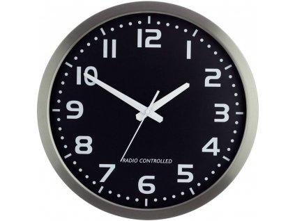 Analogové DCF nástěnné hodiny M601508, Ø 40 cm, stříbrná