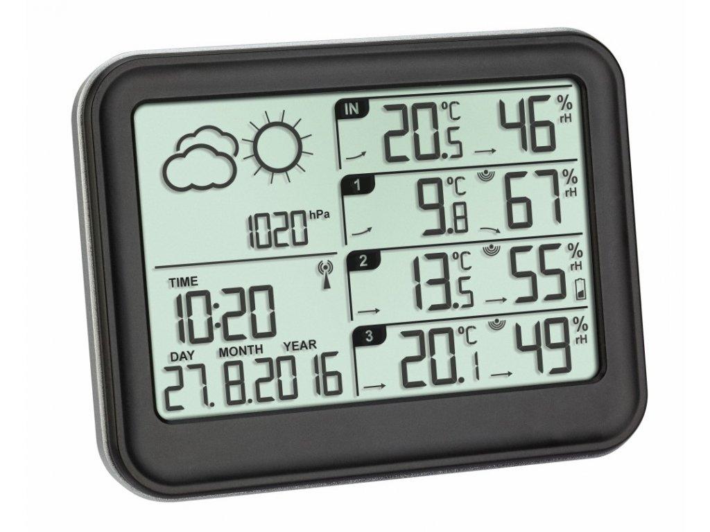 Meteostanice se třemi senzory teploty vlhkosti TFA 35.1142.01 VIEW 3258