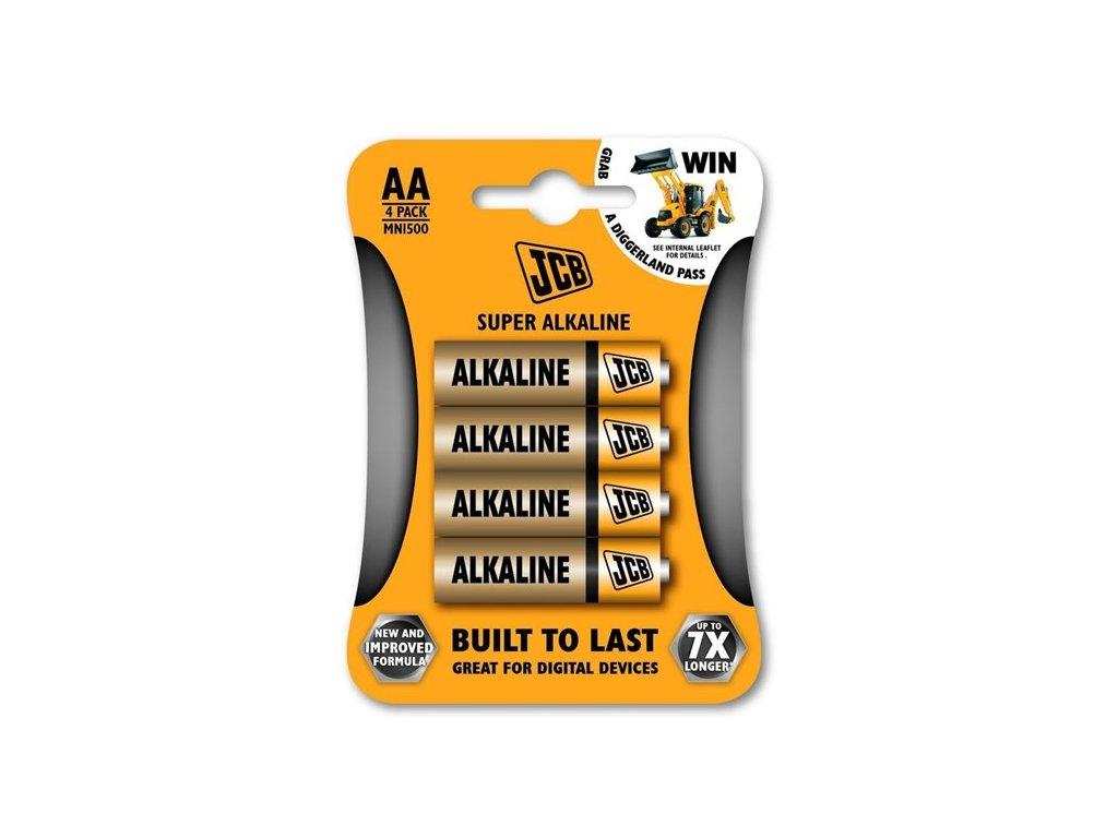 alkalická batéria AA LR06, blister 4 ks