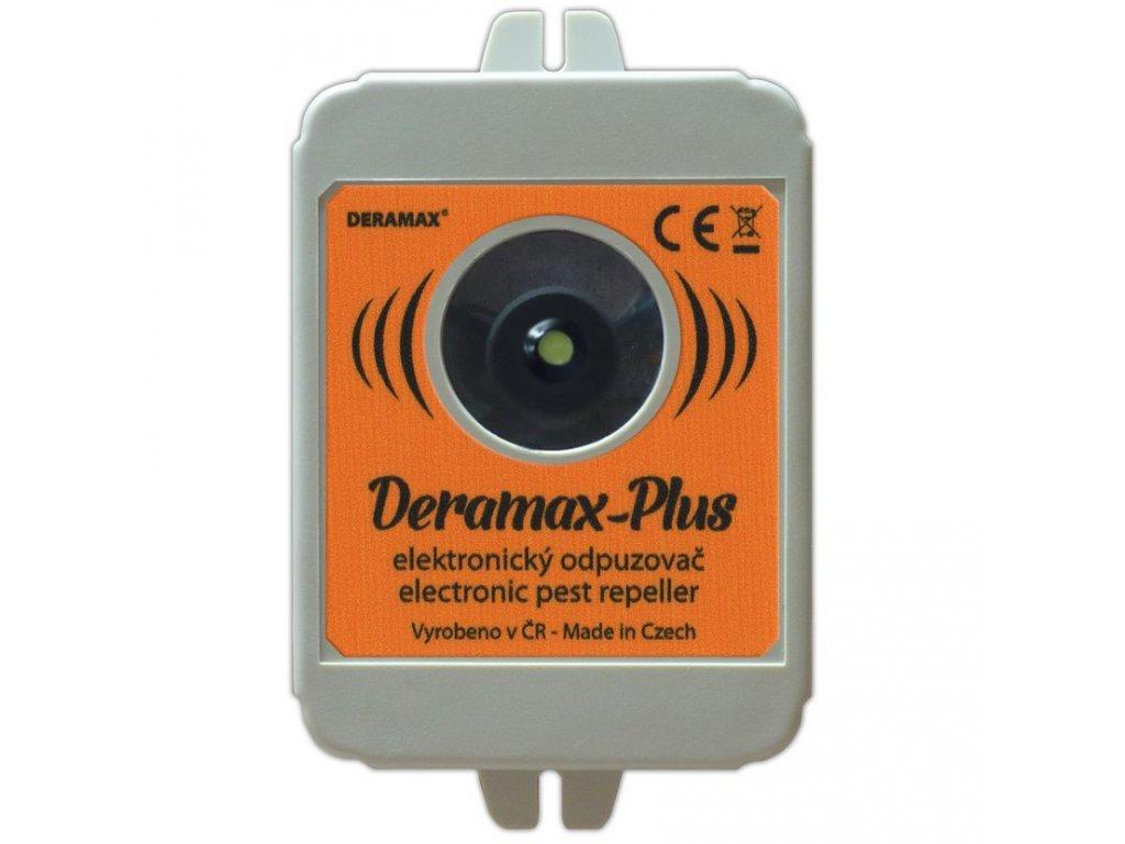Deramax®-Plus Ultrazvukový odpudzovač-plašič kún a hlodavcov