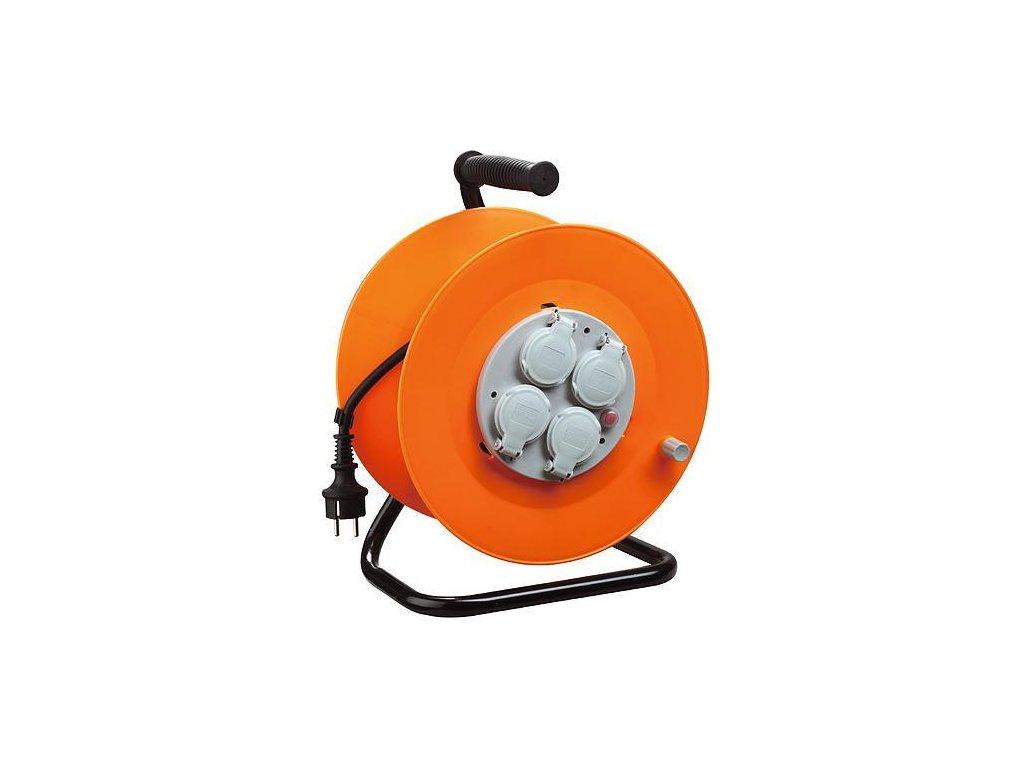 Kábel Strend Pro CR038, 4 zásuvky, L 50 m, IP44, guma, predlžovací, na bubne