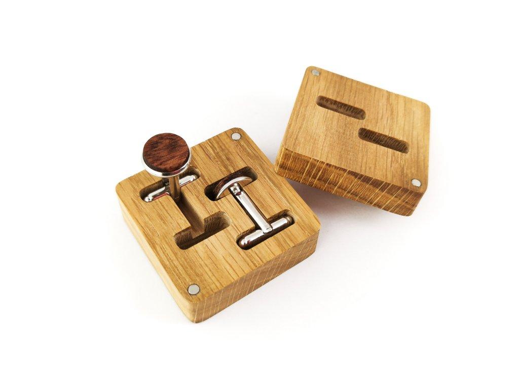 Dřevěné manžetové knoflíčky - MAHAGON V