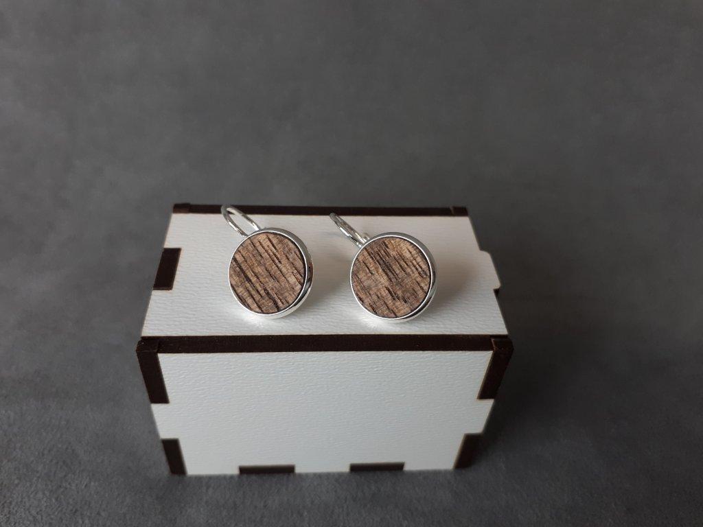 Dřevěné náušnice - OŘECH