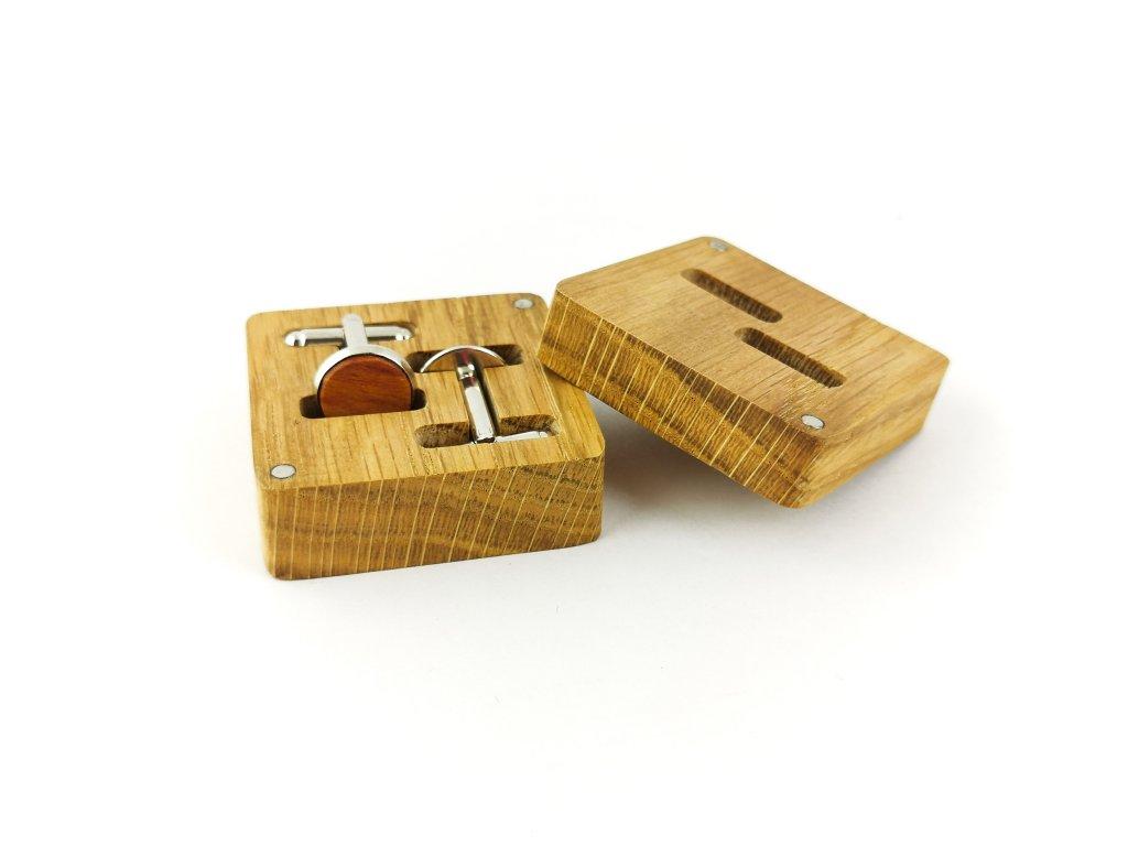 Dřevěné manžetové knoflíčky - ŠVESTKA
