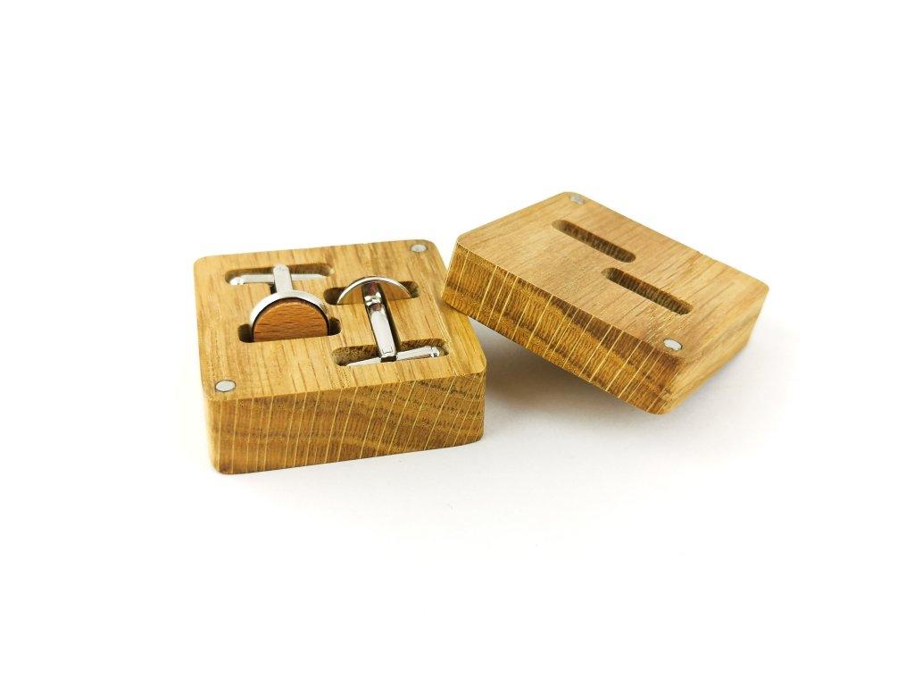 Dřevěné manžetové knoflíčky - BUK