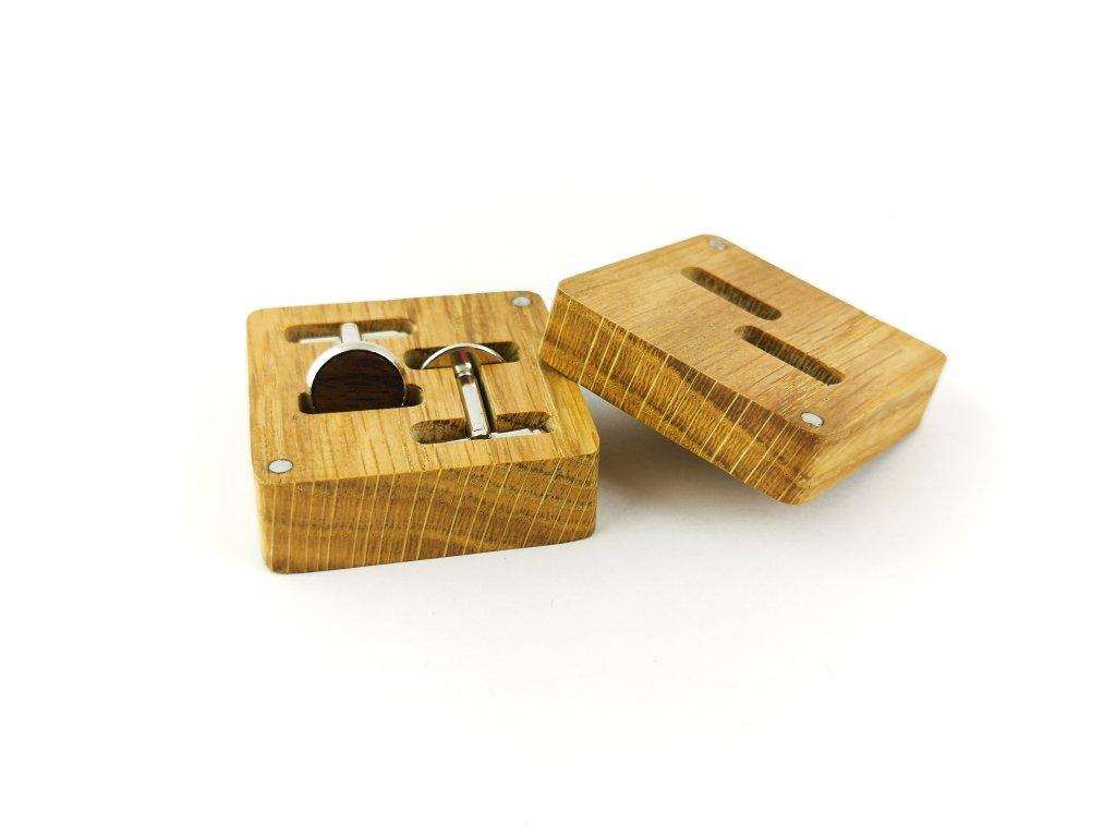 Dřevěné manžetové knoflíčky -OŘECH