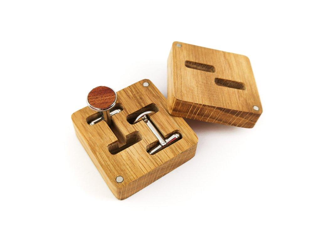Dřevěné manžetové knoflíčky - TŘEŠEŇ IV