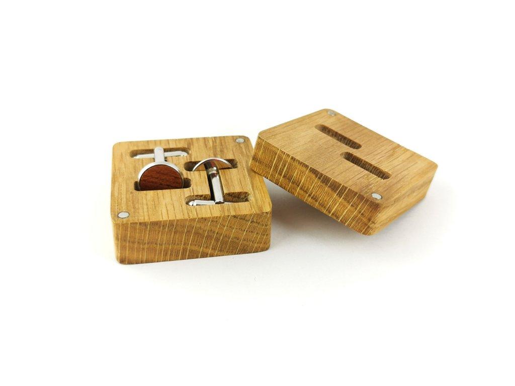 Dřevěné manžetové knoflíčky - TŘEŠEŇ