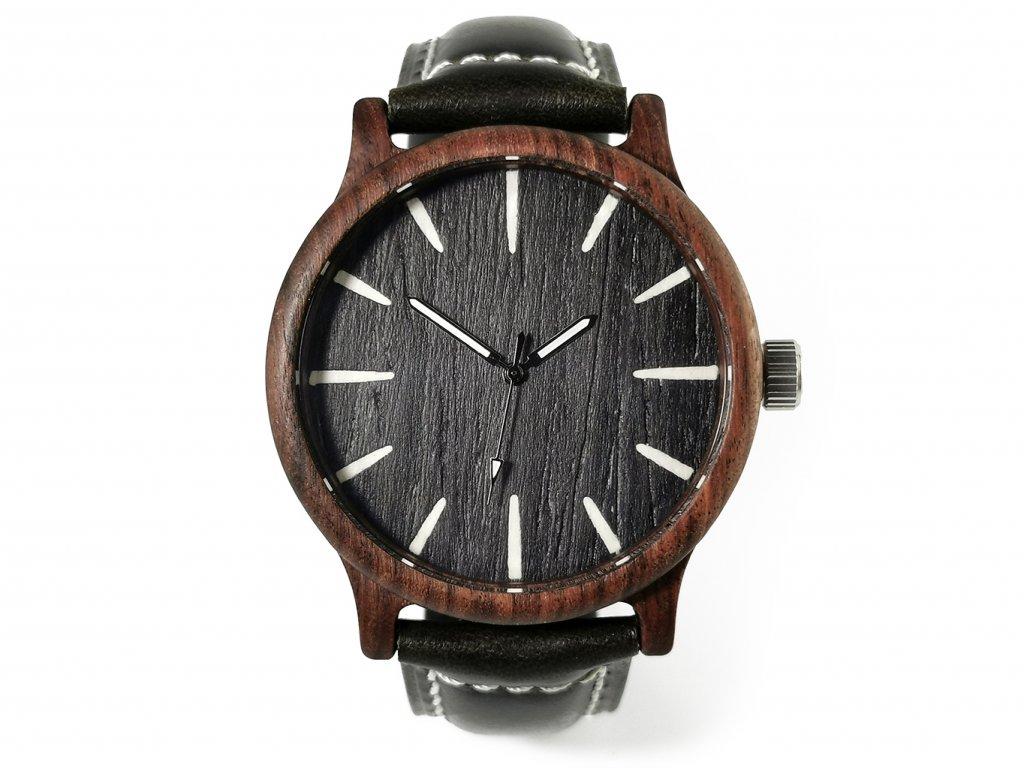 Dřevěné hodinky HUGO
