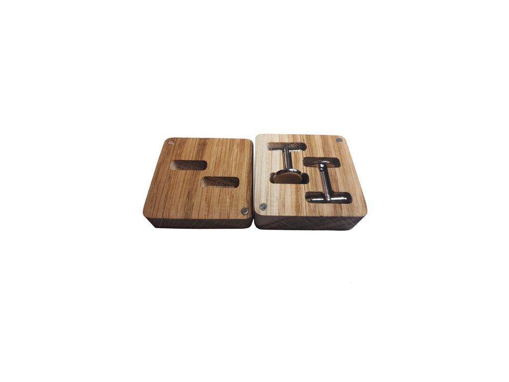 Dřevěné manžetové knoflíčky - JAVOR