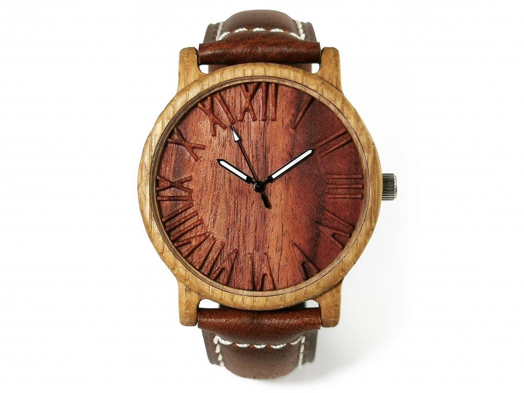 Dřevěné hodinky 3D- Time II