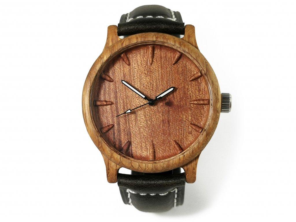Dřevěné hodinky 3D - Klasik I