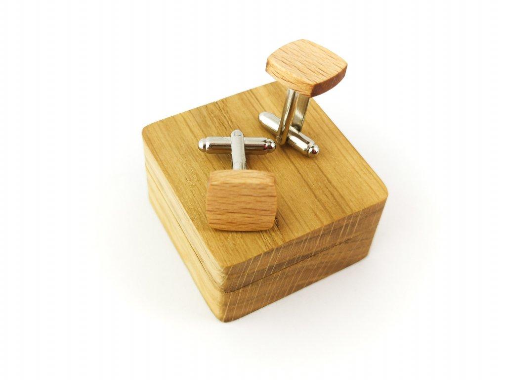 Dřevěné manžetové knoflíčky - BUK III