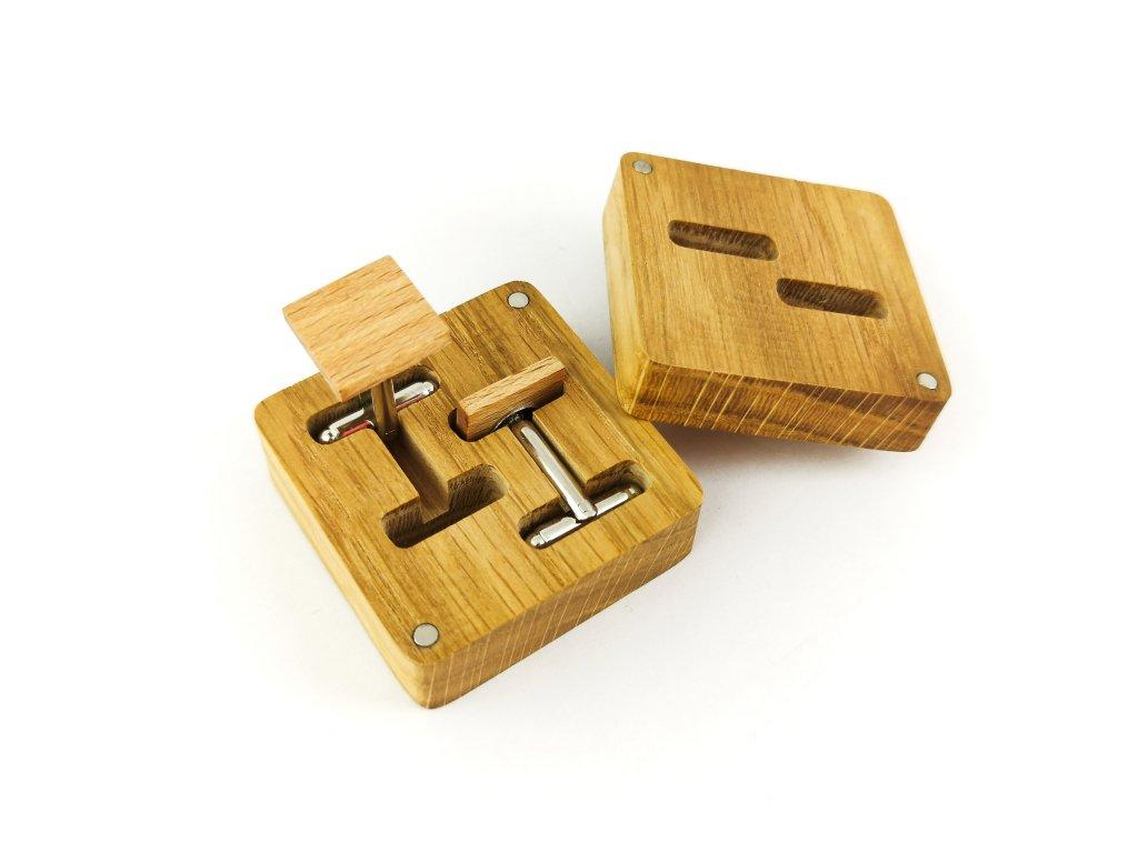 Dřevěné manžetové knoflíčky - BUK II