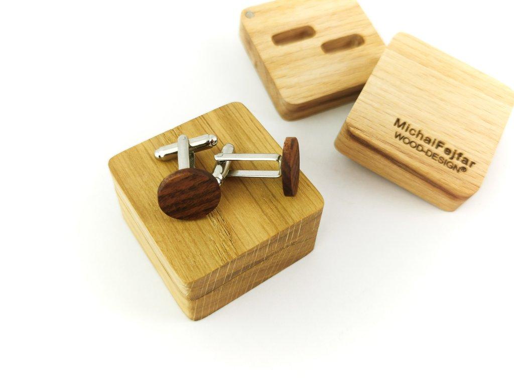 Dřevěné manžetové knoflíčky - PALISANDR I