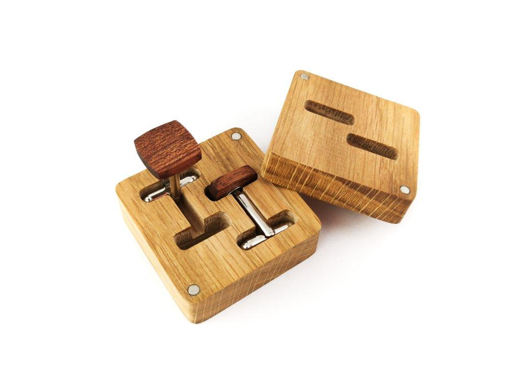 Dřevěné manžetové knoflíčky - MAHAGON III