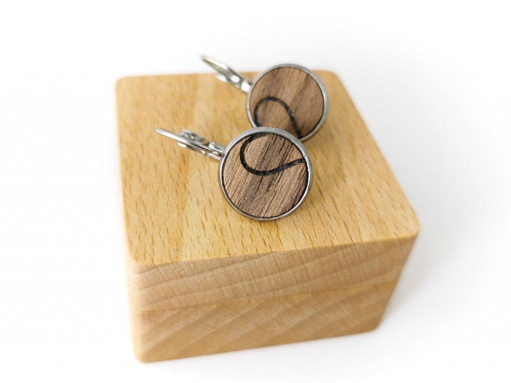 Dřevěné náušnice - SRDCE