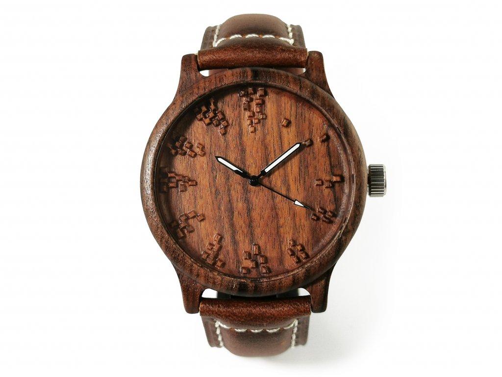 Dřevěné hodinky 3D - DALIBOR