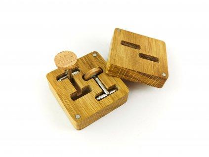 Dřevěné manžetové knoflíčky - BUK I