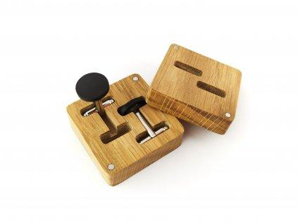 Dřevěné manžetové knoflíčky - EBEN I