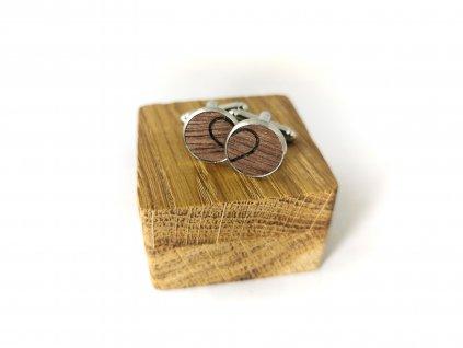 Dřevěné manžetové knoflíčky - SRDCE