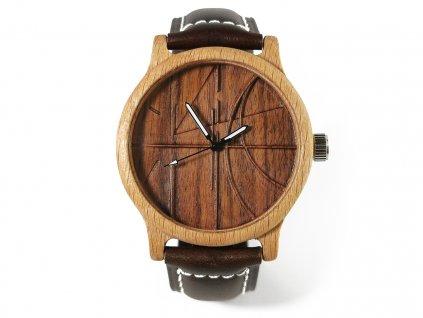Dřevěné hodinky 3D - LEONARDO
